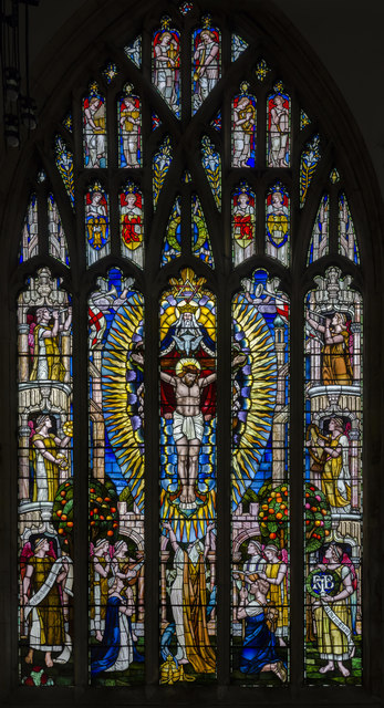 Stained glass window, Holy Trinity church, Hull