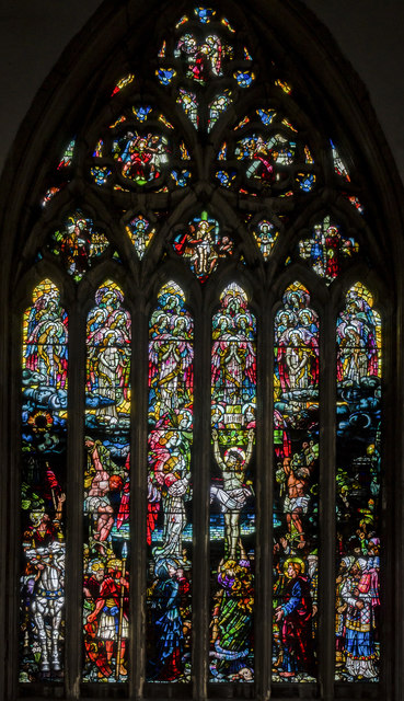 South transept stained glass window, Holy Trinity church, Hull