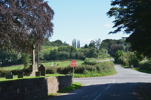Road junction, Bickerton