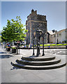 NX0660 : Queen Victoria Jubilee Drinking Fountain and the Castle of St John, Stranraer by David Dixon