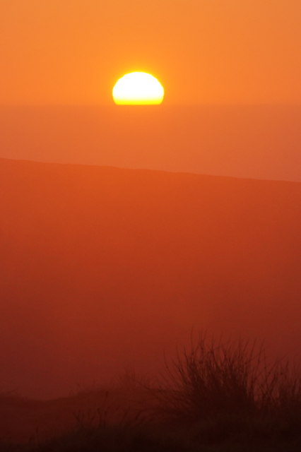 Sunset from Saxa Vord