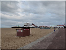 TG5307 : Deck chair hire hut near the pier by Basher Eyre