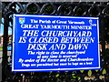 TG5208 : Great Yarmouth Minster: noticeboard by Basher Eyre