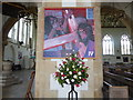TG5208 : Great Yarmouth Minster: Fourth Station of the Cross by Basher Eyre