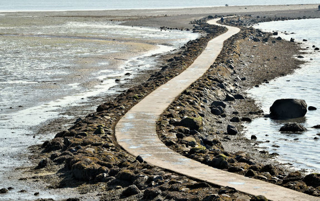Causeway to Rough Island, Comber (August 2016)