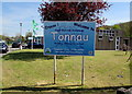 SS7798 : Tonnau Primary Community School nameboard, Tonna by Jaggery