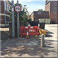 SK5236 : Footpath closed for repairs by David Lally