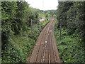 SE1941 : Railway south of Ghyll Royd bridge by Stephen Craven