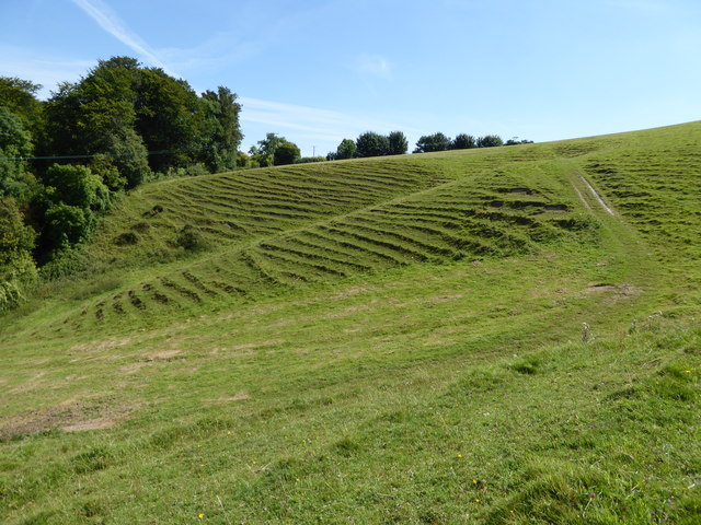 Hillside and footpath above St Edwold's Church, Stockwood