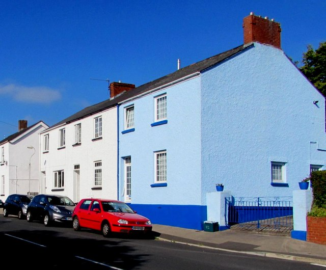 Shades of blue, Allt-yr-yn View, Newport