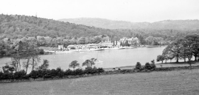Across the south end of  Windermere to Lakeside station, 1952