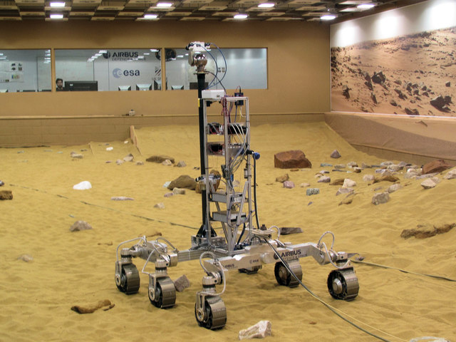 Looking towards the Mars Rover Control Room