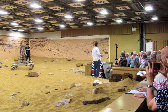 The Mars Rover test facility is shown to a U3A group from Tring