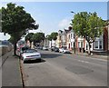 ST1167 : Tree-lined part of Broad Street, Barry by Jaggery