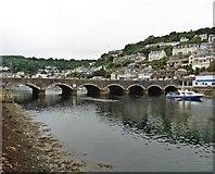 SX2553 : Bridge over Looe River by Roger Cornfoot