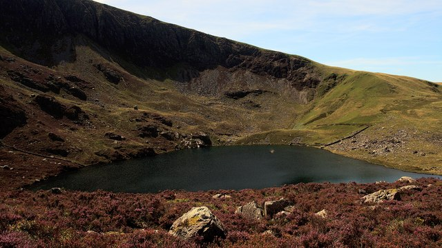Craig Cwm Silyn corrie lake