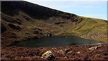 SH5150 : Craig Cwm Silyn corrie lake by Vivien and Geoff Crowder