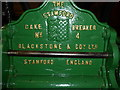 SK8608 : Cake breaking machine, nameplate by Bob Harvey