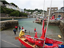 SX2553 : Sailing dinghy, Looe Harbour by Roger Cornfoot
