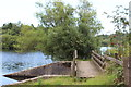 SO1209 : Footbridge over inlet to lake, Bryn Bach Park, Tredegar by M J Roscoe