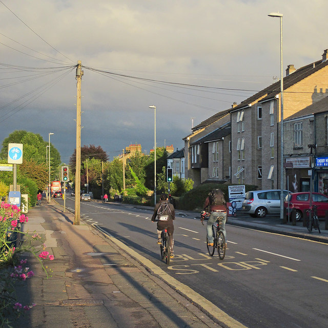Cherry Hinton Road on an August evening