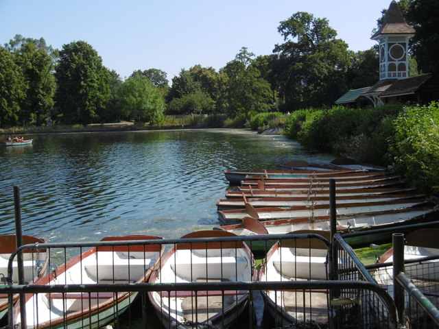 Boats on The Lake in Valentines Park