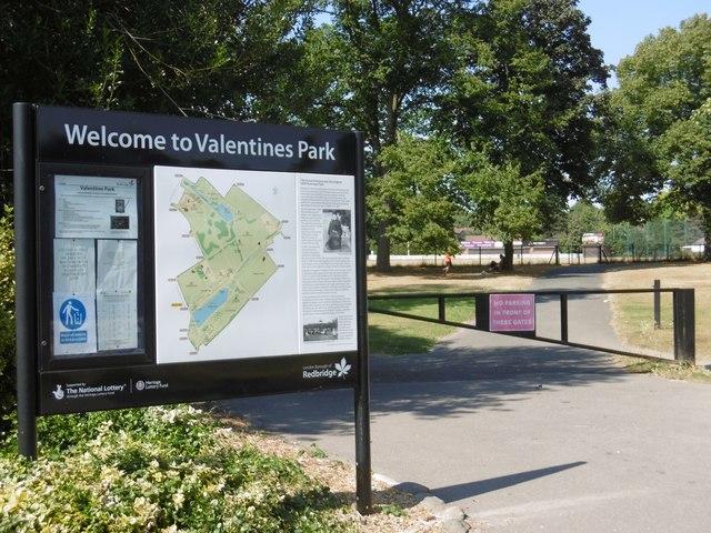 Entrance to Valentines Park