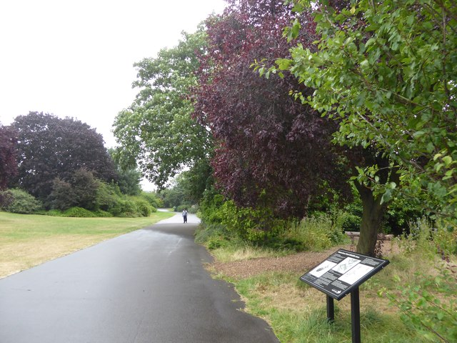 Path and wildlife area, Valentines Park, Ilford