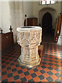 TL9971 : St.Mary's Church Font by Adrian Cable