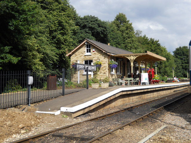 Ferry Meadows station on the Nene Valley Railway