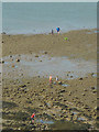 SD4061 : Playing on the beach, Heysham Sands by Karl and Ali