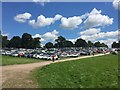 SJ7548 : Betley Show: car park by Jonathan Hutchins