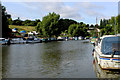 TQ7353 : River Medway at East Farleigh by Chris Heaton