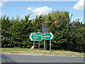 TL9974 : Roadsigns on the A143 Bury Road by Adrian Cable