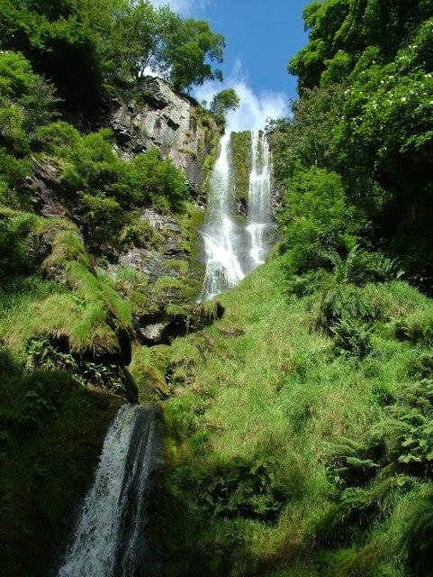 Pistyll Rhaedr waterfall