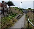 ST1267 : Path towards  Barry Docks railway station by Jaggery