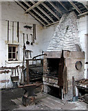 SK3155 : Hearth and bellows in the Cromford & High Peak Railway Workshop by John Sutton