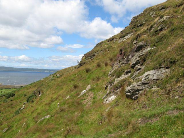 Rock outcrops on Creag Ghlas