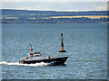 NO5829 : Dundee Pilot Boat at the Abertay Cardinal Mark in the Tay Estuary by David Dixon