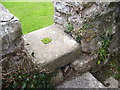 SN0003 : Nash Church - stile - is this a reused millstone? by welshbabe
