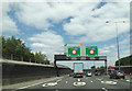 TQ5573 : A282 Trunk Road approaching Dartford Tunnel by Adrian Cable