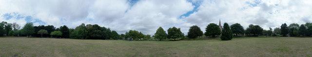 Panorama of village green