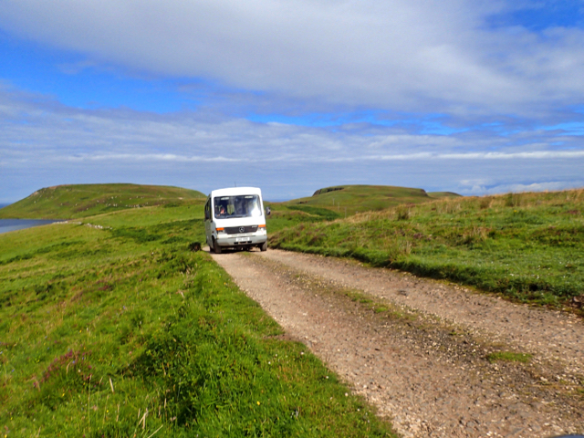 Bus returning from the RSPB centre