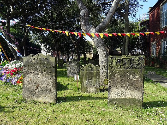 Headstones in the Graveyard of St Cuthbert's Church