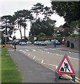ST3090 : Warning sign - roadworks, Pillmawr Road, Malpas, Newport by Jaggery