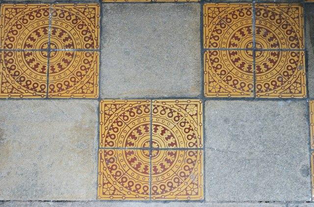 St Andrew's church: floor tiles