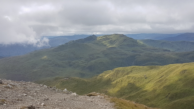 Looking towards Meall Garbh and Meall nan Tarmachan from Beinn Ghlas