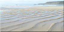 SW3526 : Ripples in the sand at low tide by Rod Allday