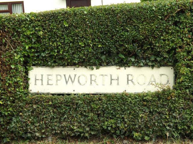 Hepworth Road sign