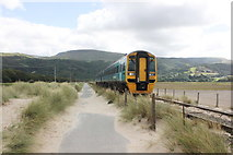 SH6214 : The Wales Coast Path and Cambrian Line south of Barmouth by Jeff Buck